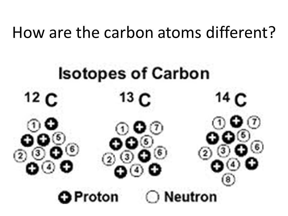 How are the carbon atoms different