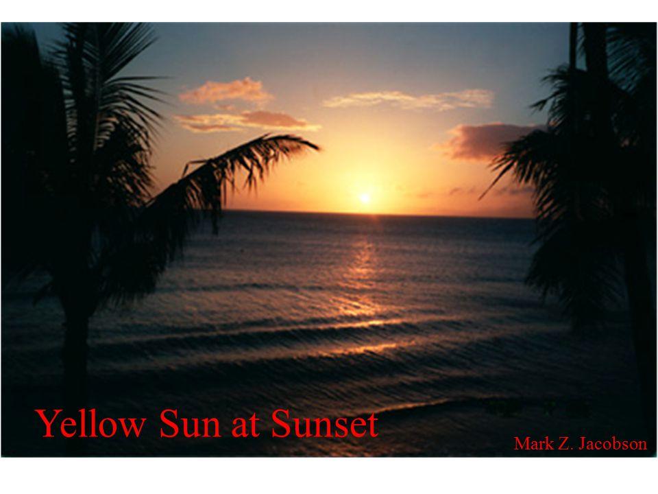 Yellow Sun at Sunset Mark Z. Jacobson