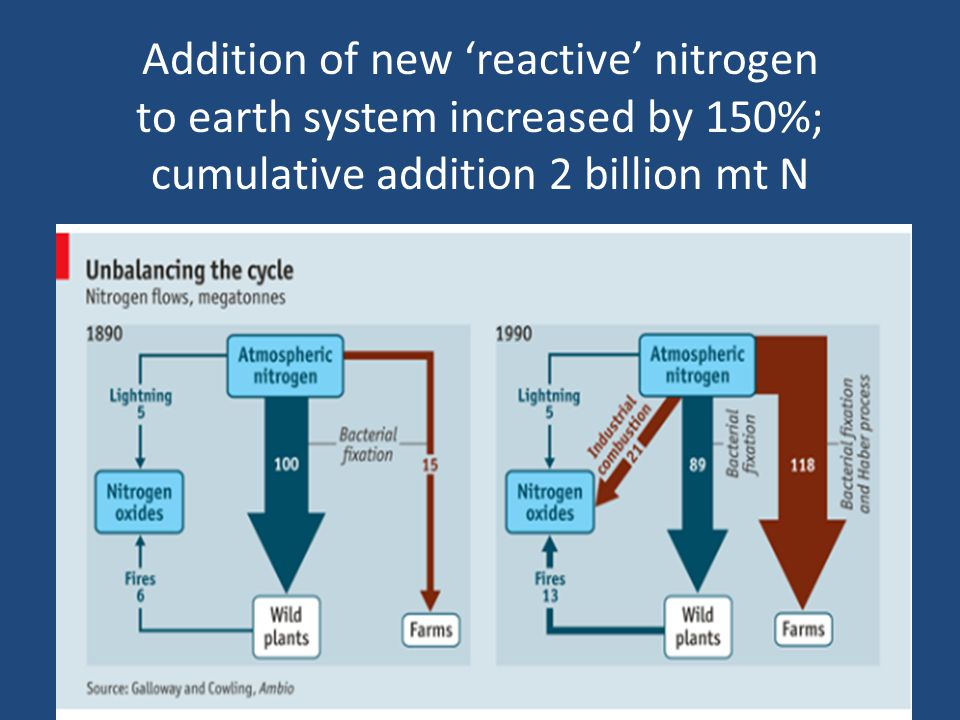 Parallels between perturbation of Earth's Carbon & Nitrogen Cycles CarbonNitrogen We are systematically mining hydrocarbons from the earth about 1 million times faster than it took natural processes to put them there.