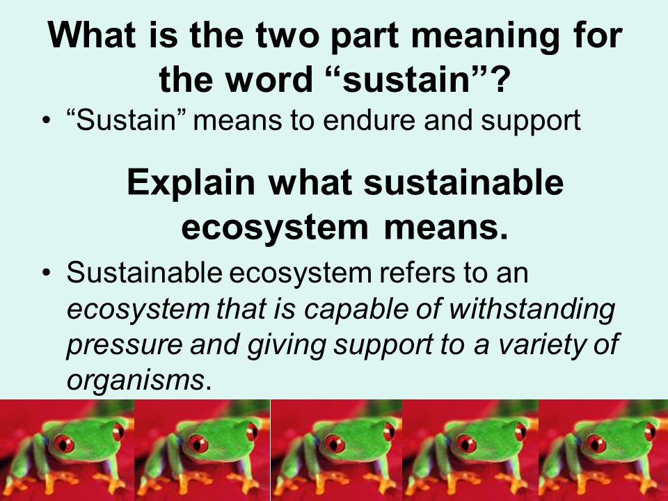 What is the two part meaning for the word sustain .