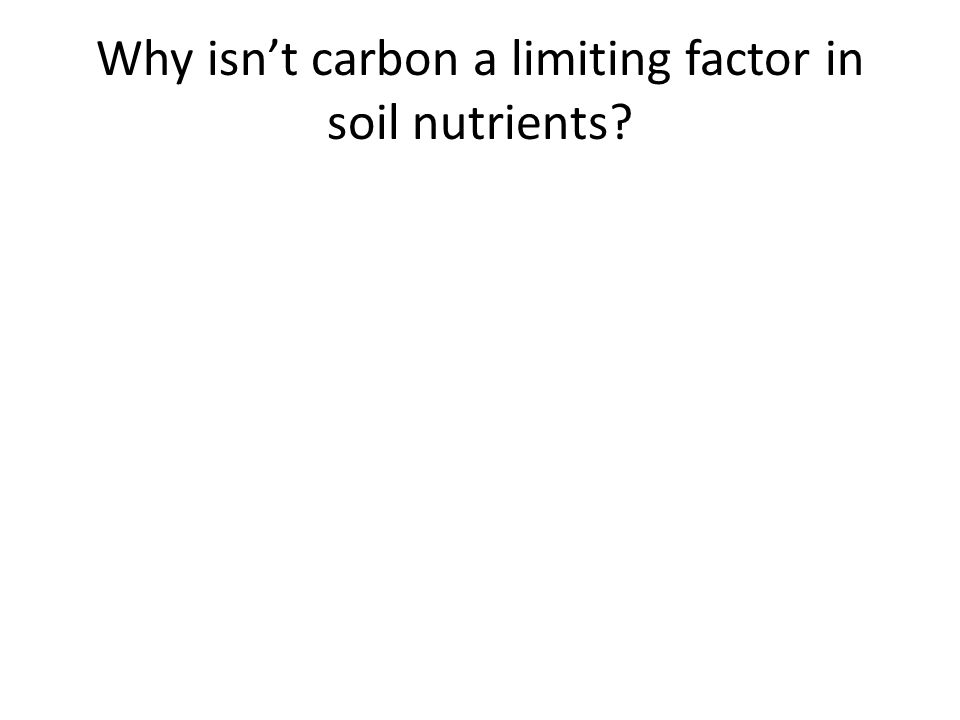 Why isn't carbon a limiting factor in soil nutrients
