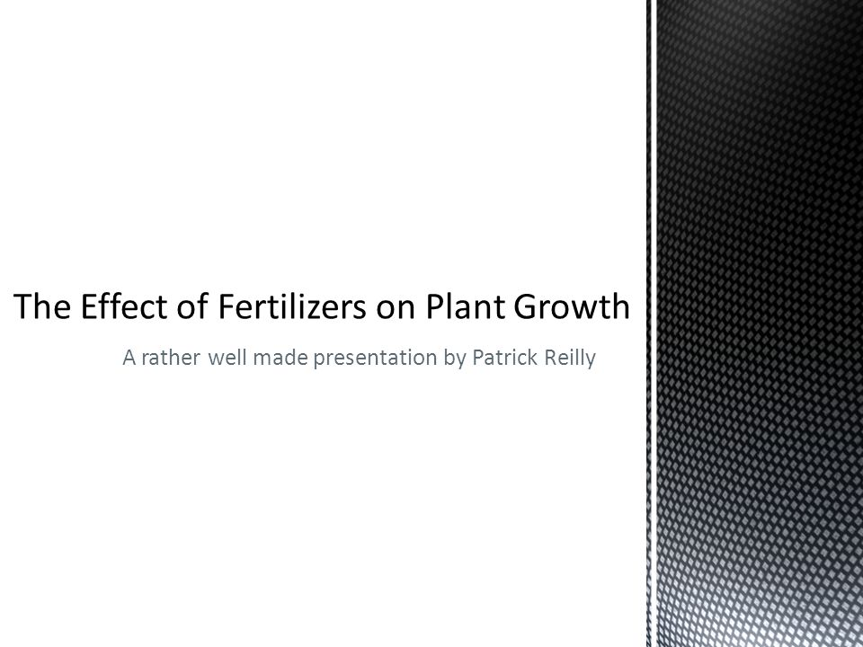 The Effect of Fertilizers on Plant Weight The Effect of Fertilizers on Root Depth In Plants The Effect of Fertilizers on Plant Water Absorption