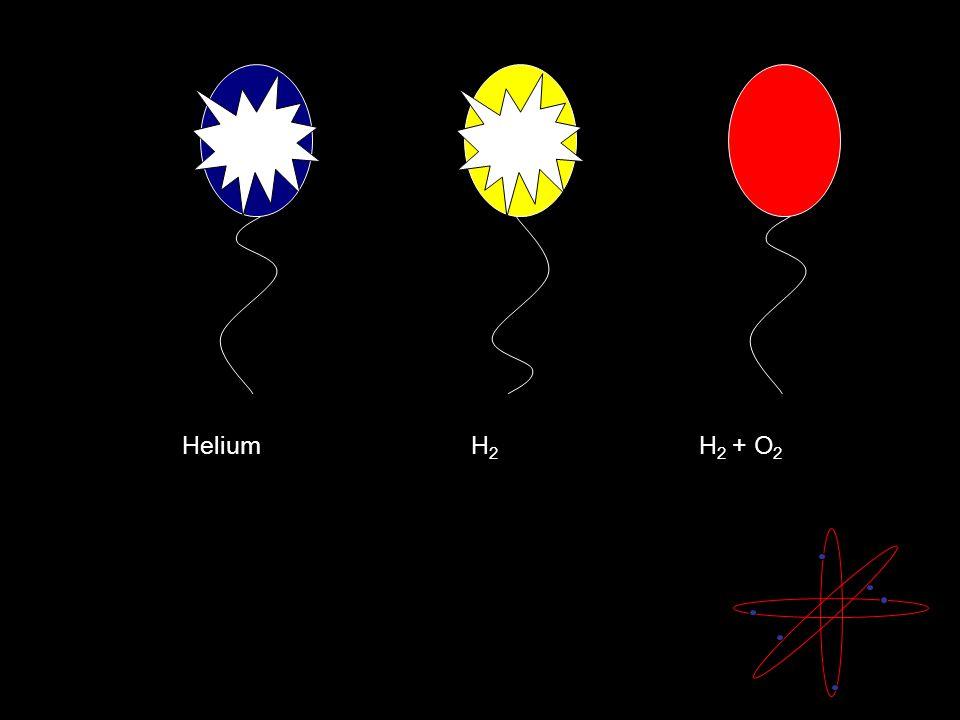 Helium H 2 H 2 + O 2