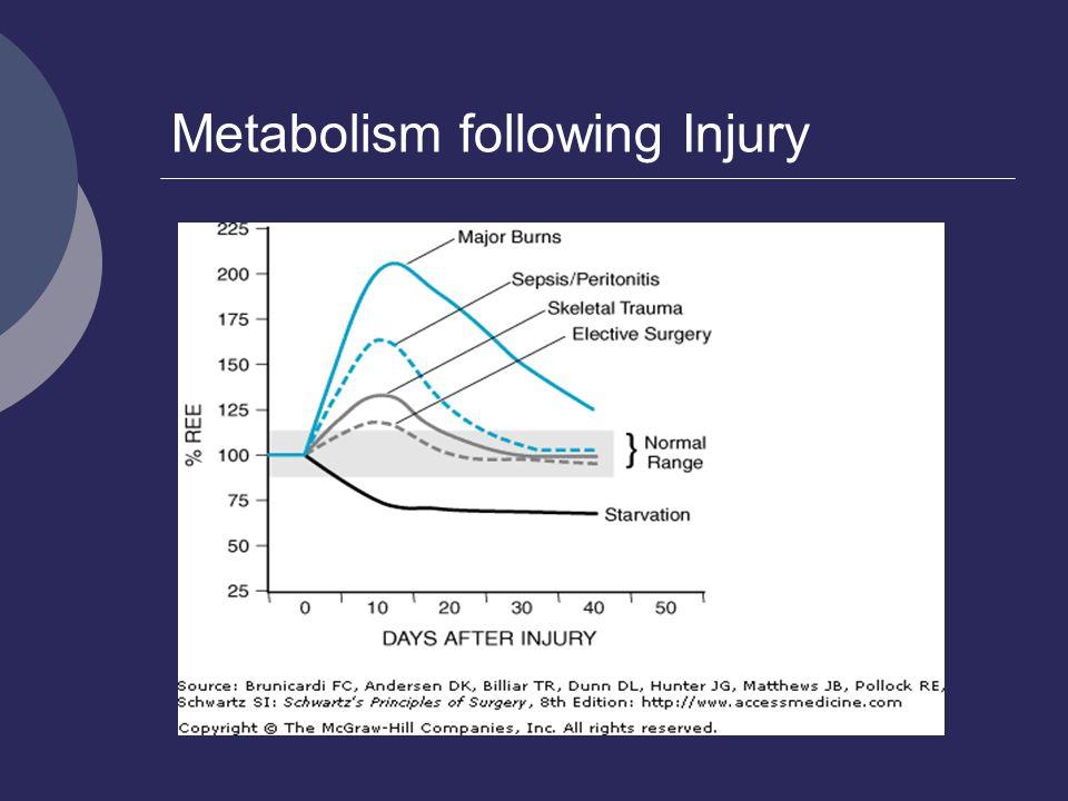 Metabolism following Injury