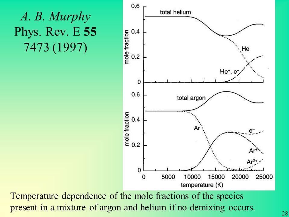 A. B. Murphy Phys. Rev.