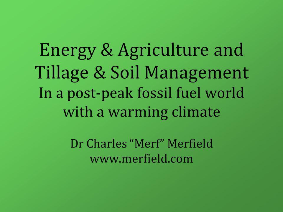Tillage and soil carbon