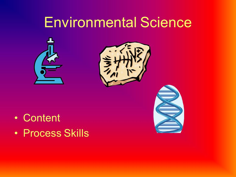 Environmental Science Content Process Skills