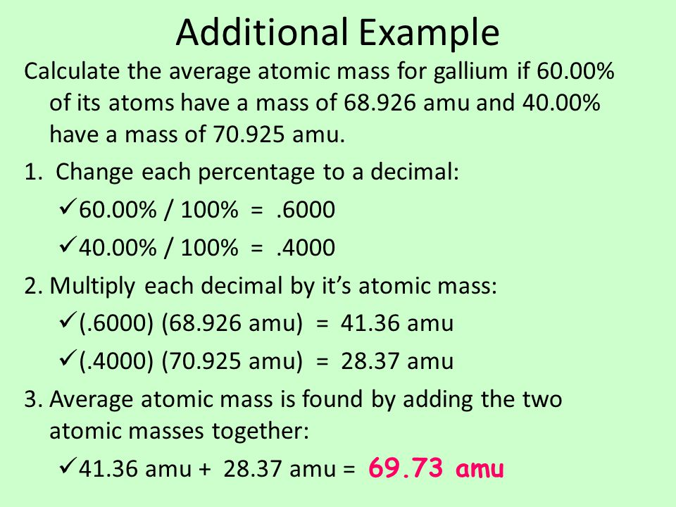 Chemical Formulas and Moles  A compound's chemical formula tells you which elements, as well as how much of each, are present in a compound.
