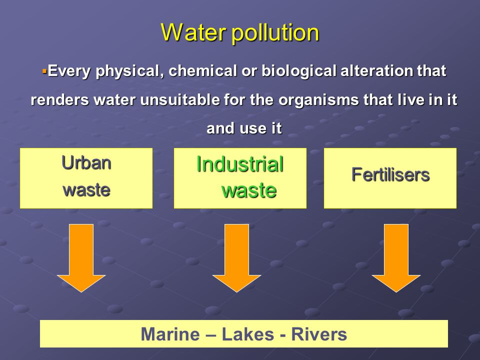 Eutrophication  Increase of phytplankton pigment concentration due to continuous flow of nutrients to an aquatic system  Increase of zooplankton populations  Accumulation of dead organic matter for decomposition  Increase of decomposers  Increase of biological and chemical oxygen demand (BOD and COD respectively)  Asphyxia of macrofauna (e.g.