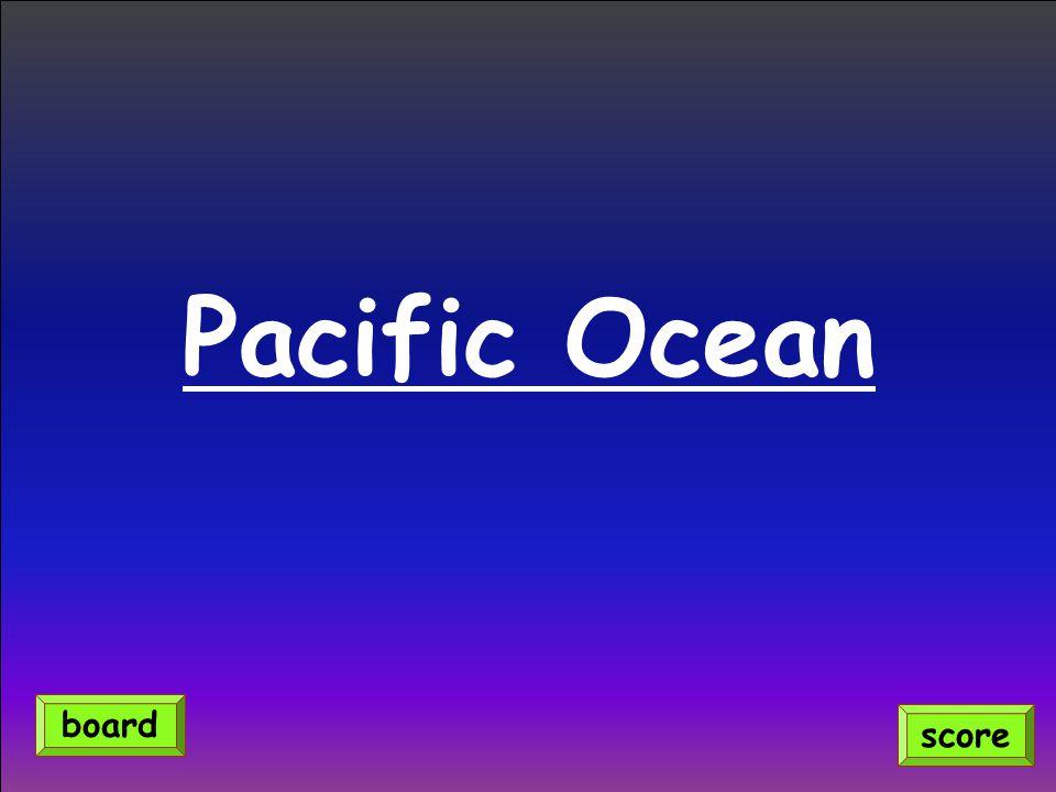 Pacific Ocean score board