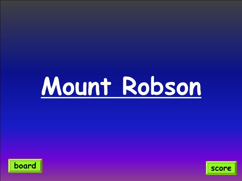 Mount Robson score board