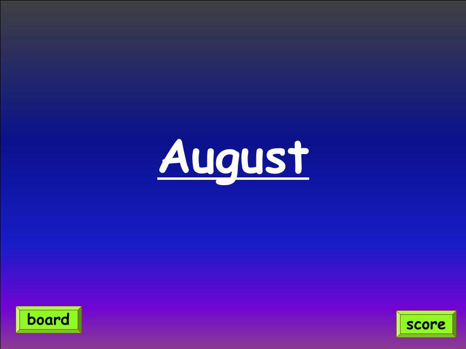 August score board