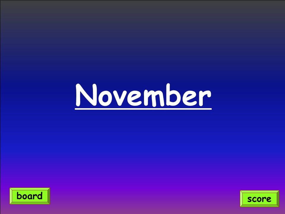 November score board