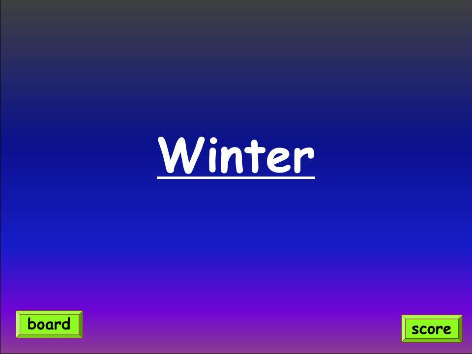 Winter score board