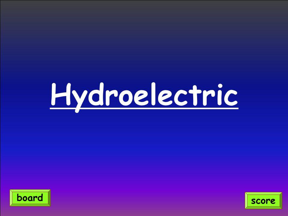 Hydroelectric score board