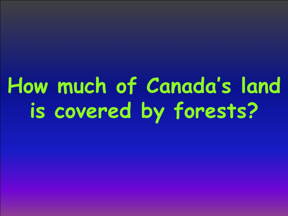 How much of Canada's land is covered by forests?