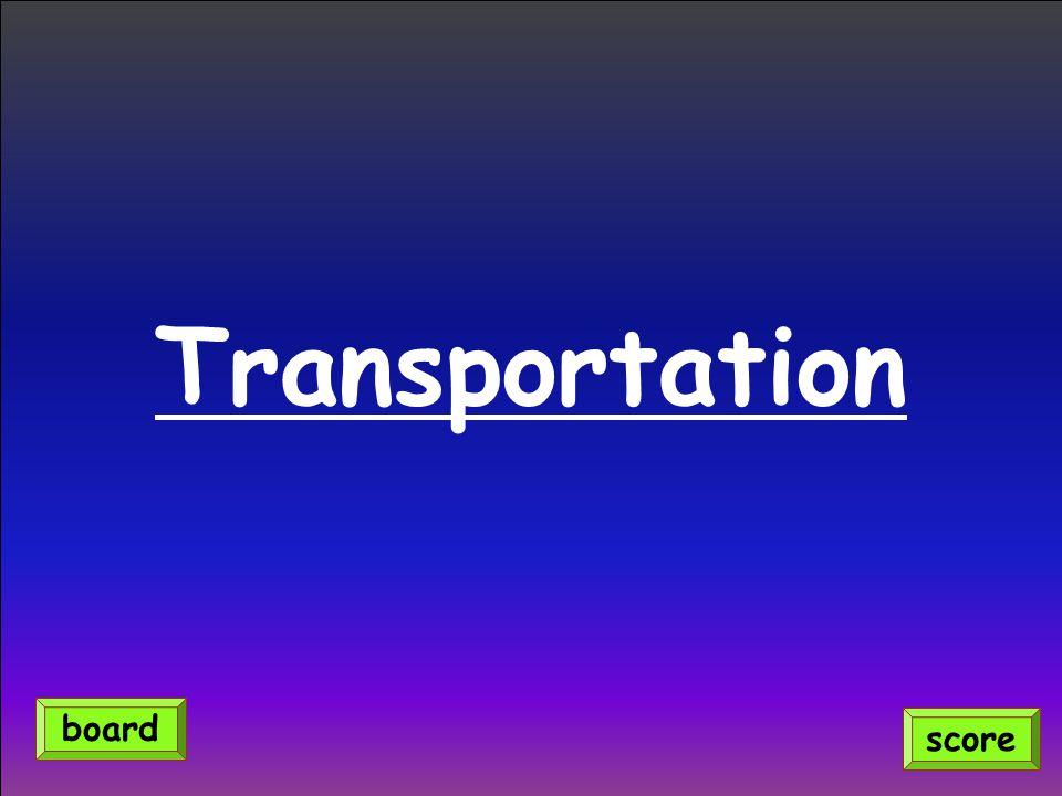 Transportation score board