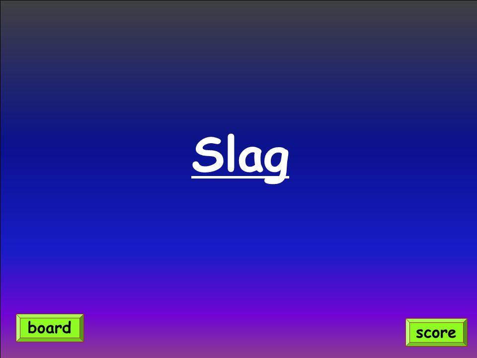 Slag score board