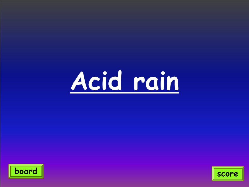 Acid rain score board