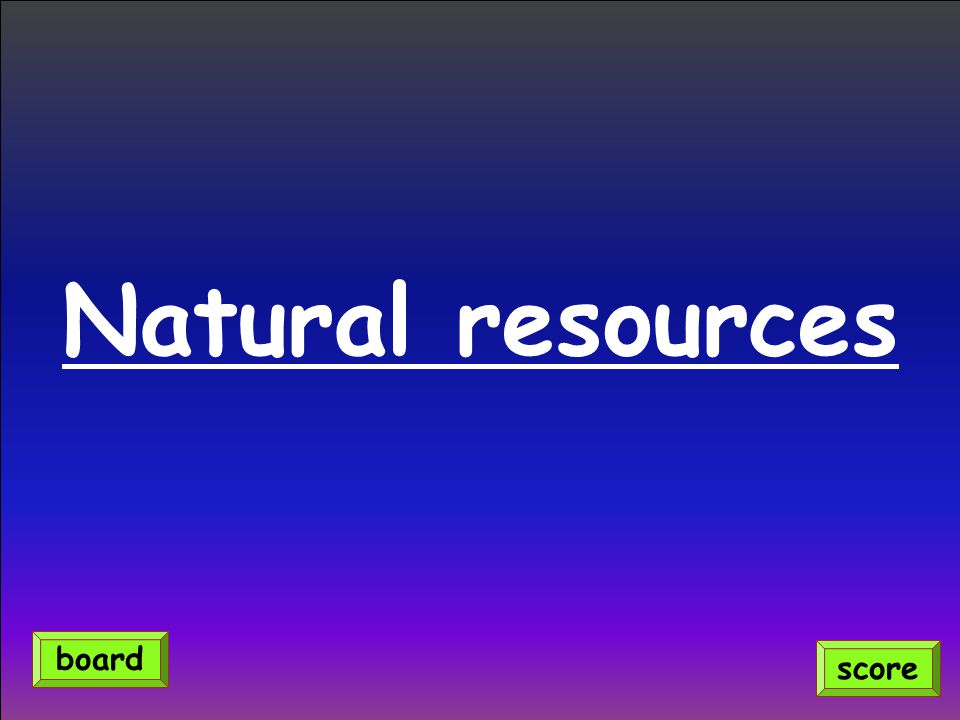 Natural resources score board