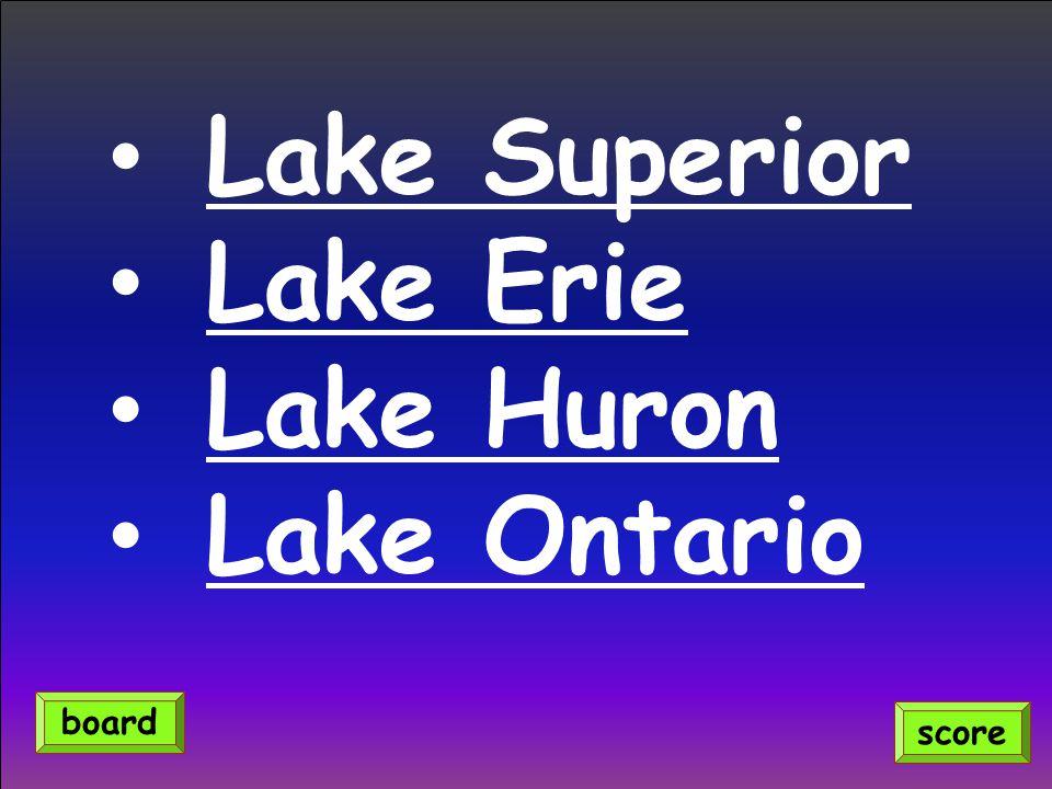 Lake Superior Lake Erie Lake Huron Lake Ontario score board