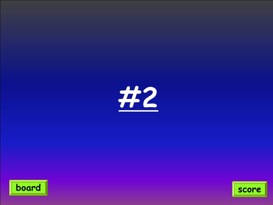 #2 score board
