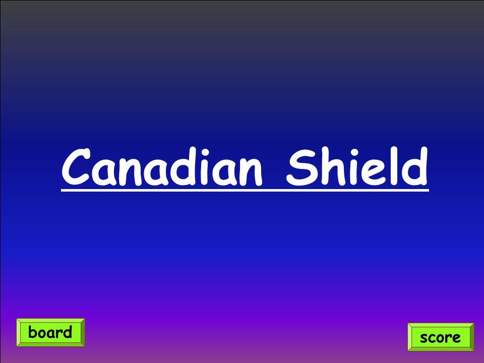 Canadian Shield score board