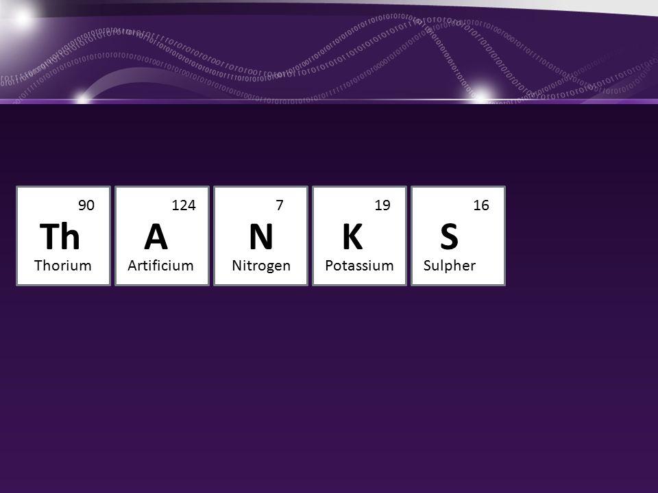 ThSKAN 9016197124 ThoriumSulpherPotassiumNitrogenArtificium