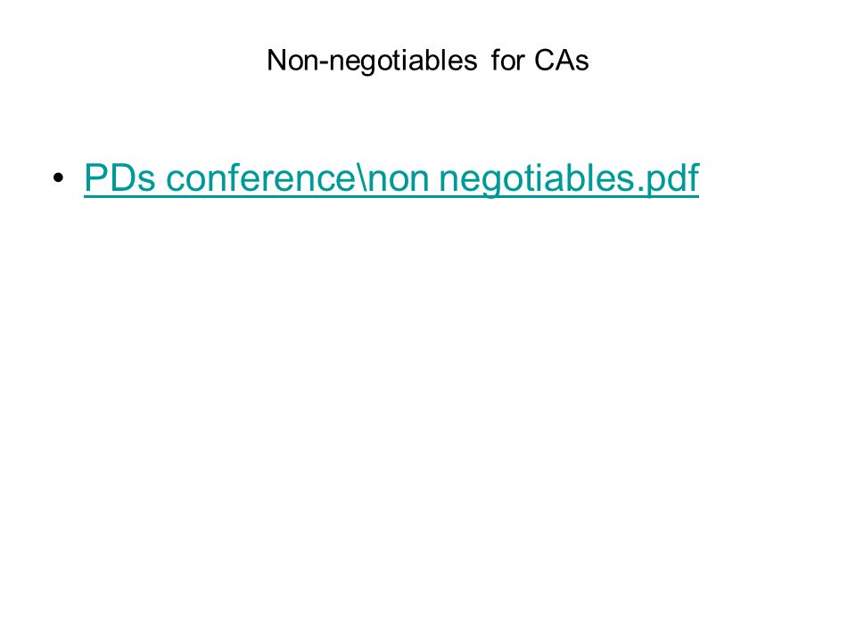Non-negotiables for CAs PDs conference\non negotiables.pdf