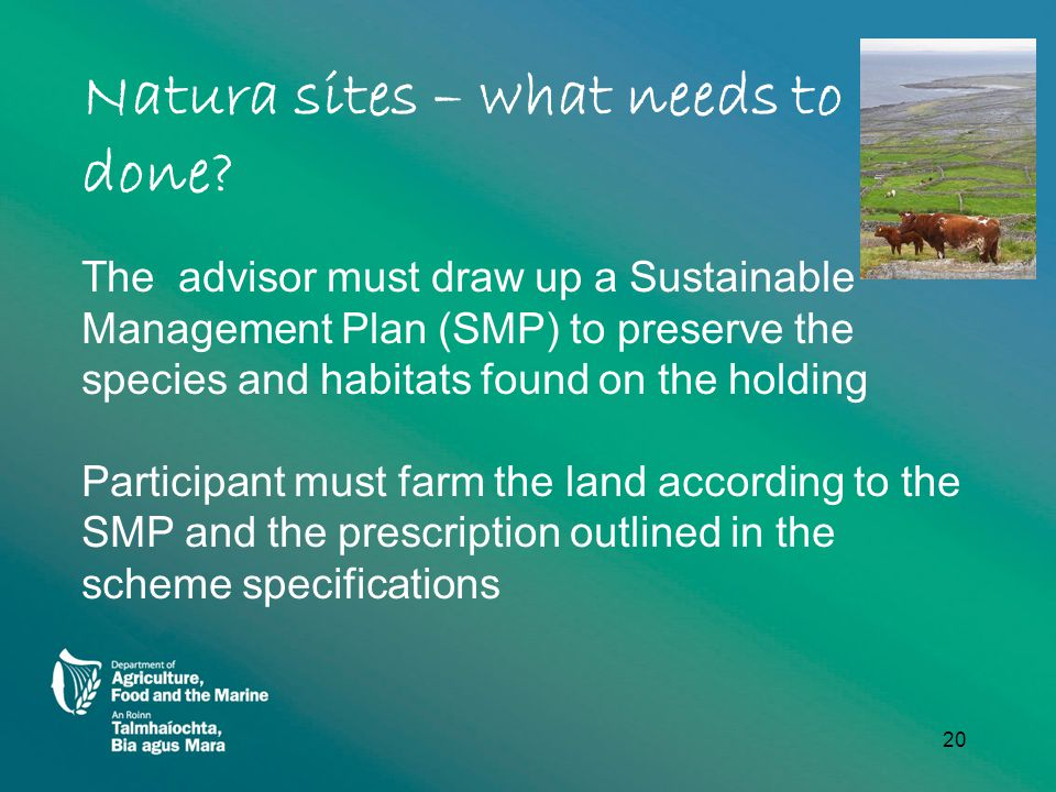 Natura sites – what needs to be done.