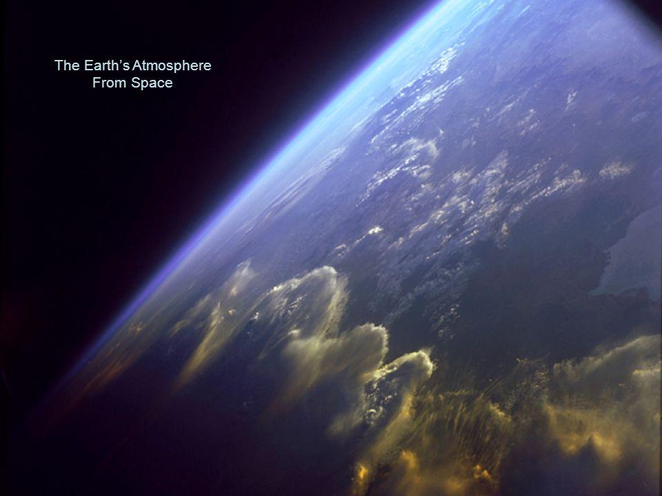 The Earth's Atmosphere 78% Nitrogen 20% Oxygen 1% Argon 0.03% CO 2 Trace Elements 'The Precious Envelope' Helium Nitrogen Oxygen Water vapor Argon Neon Carbon dioxide Air