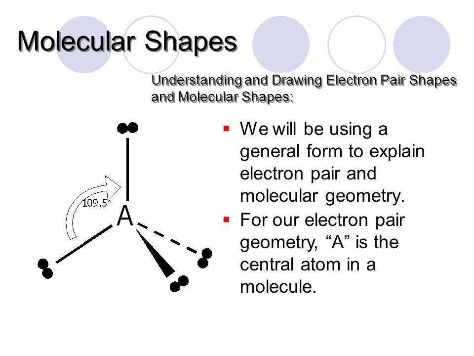  We will be using a general form to explain electron pair and molecular geometry.