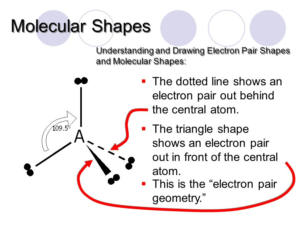  The dotted line shows an electron pair out behind the central atom.
