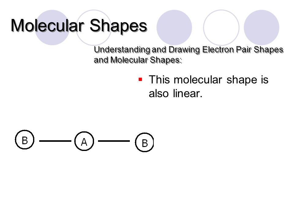  This molecular shape is also linear.