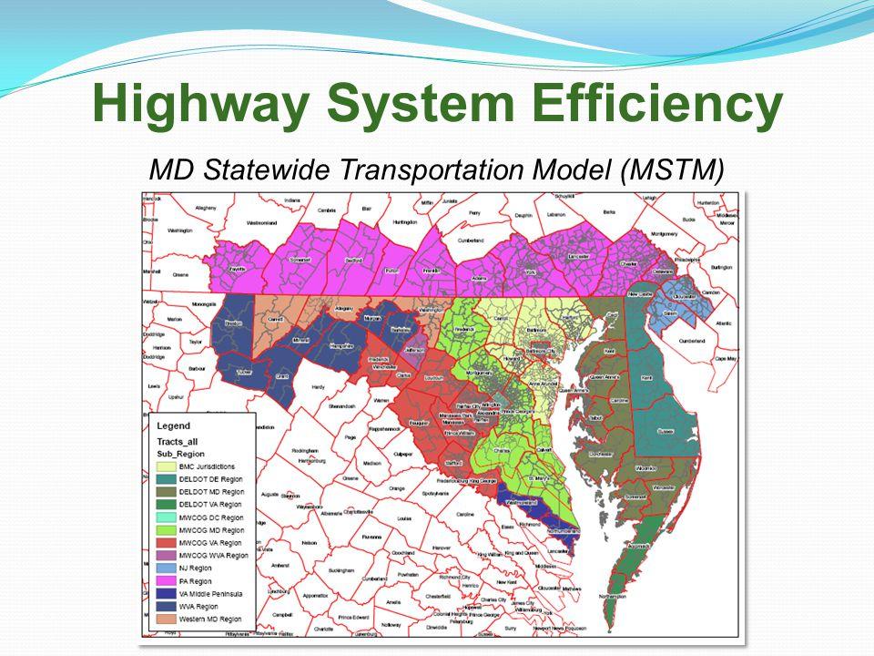 Highway System Efficiency MD Statewide Transportation Model (MSTM)