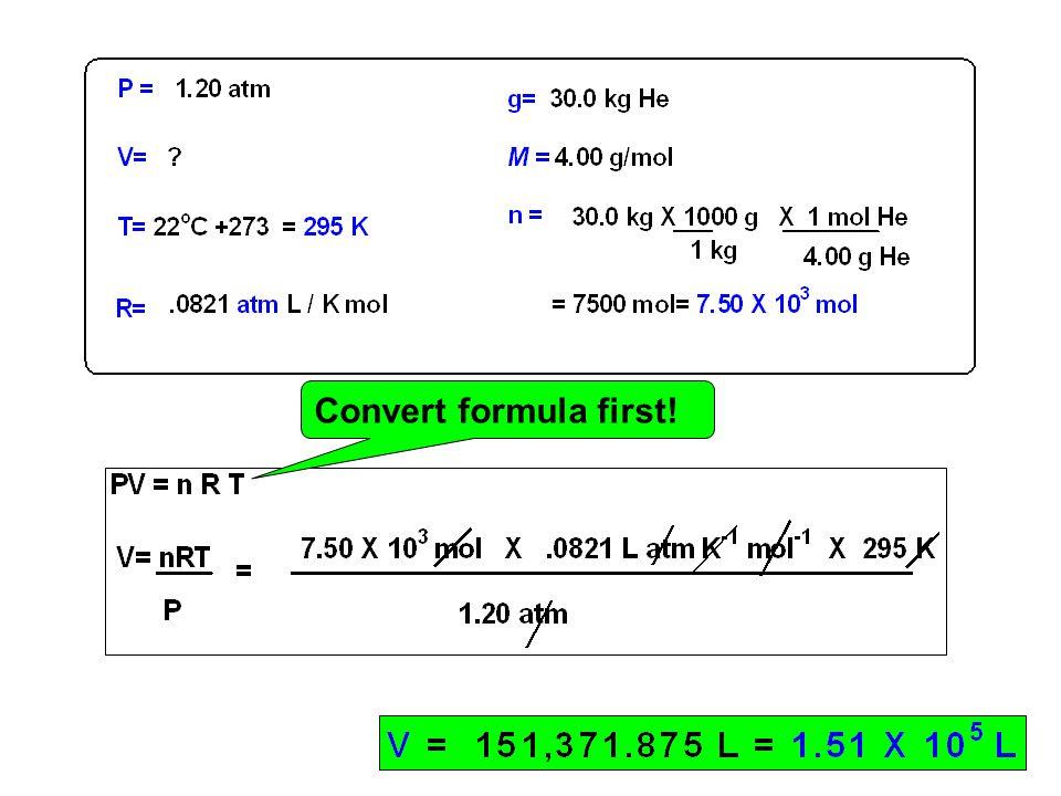 Convert formula first!