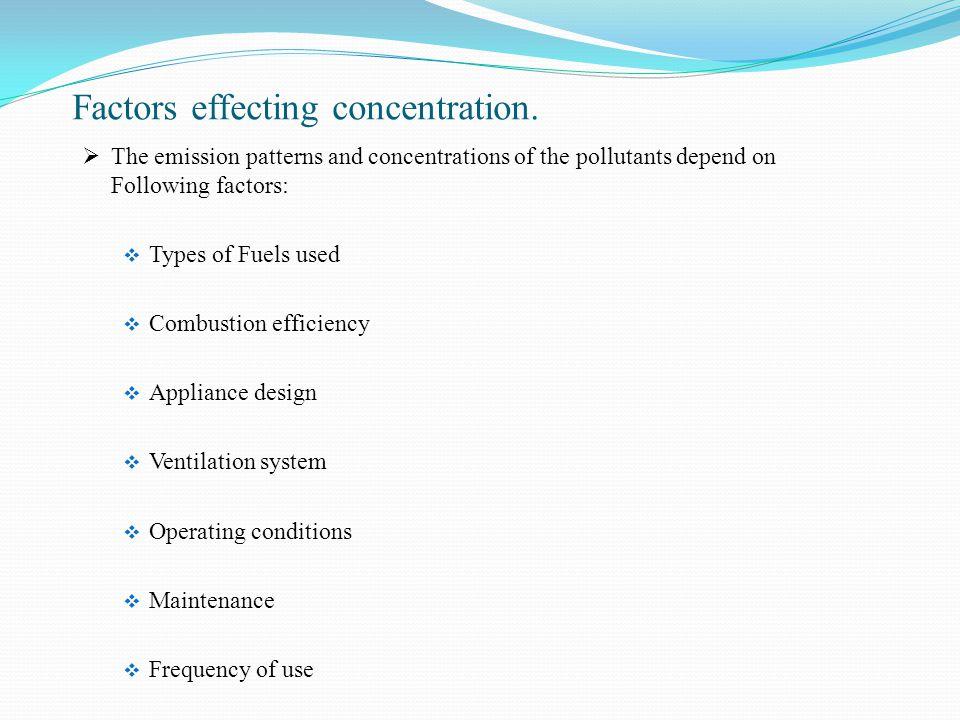 Factors effecting concentration.
