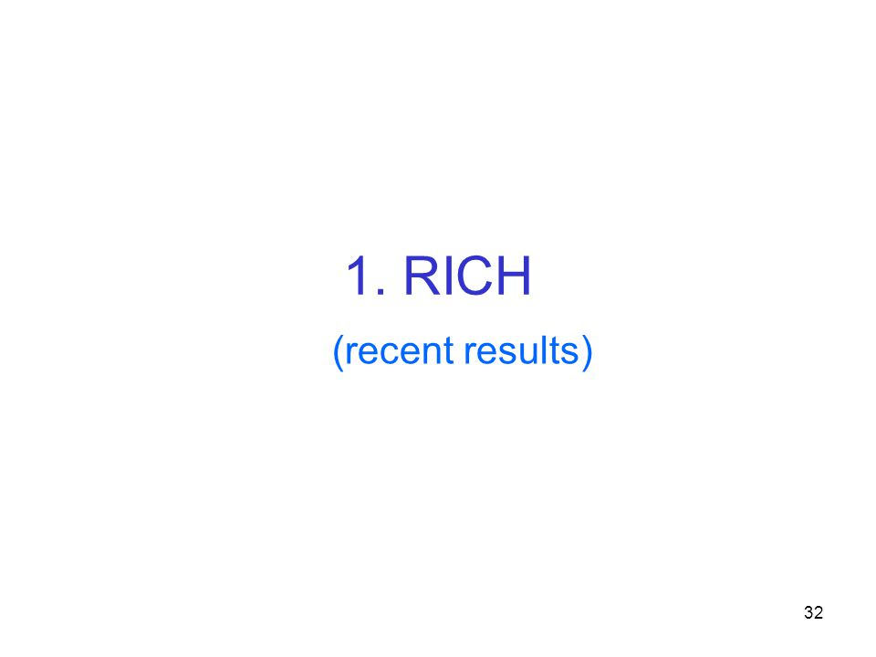 32 1. RICH (recent results)
