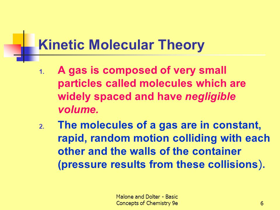 Malone and Dolter - Basic Concepts of Chemistry 9e7 Kinetic Molecular Theory 3.