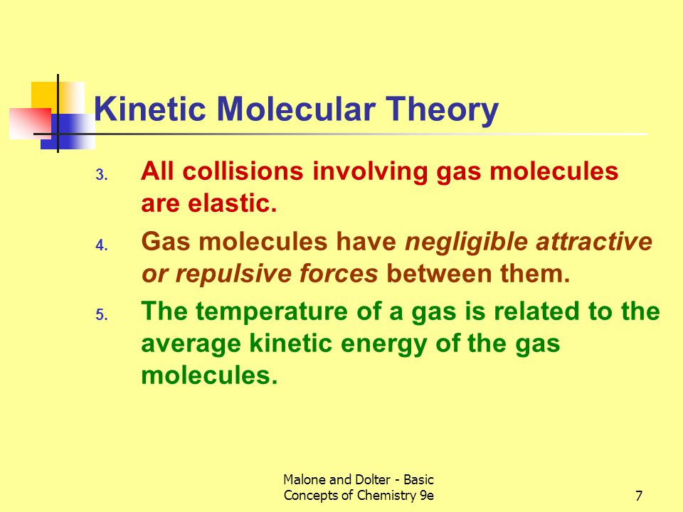 Malone and Dolter - Basic Concepts of Chemistry 9e8 Kinetic Molecular Theory 6.