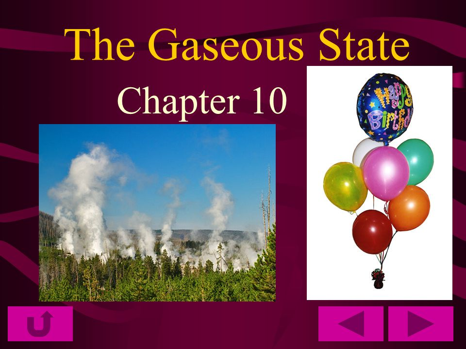 The Gaseous State Chapter 10