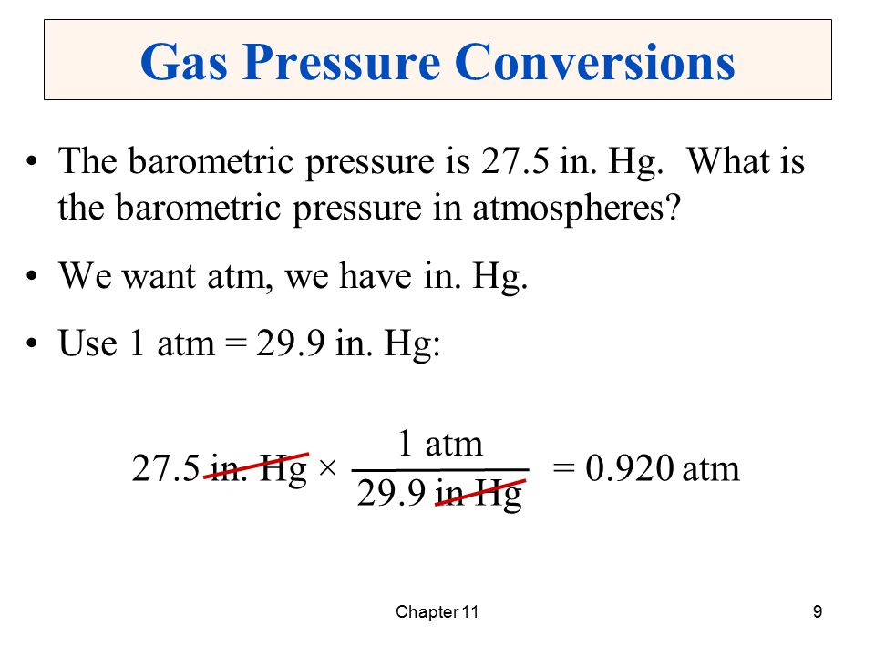 Chapter 1130 Applying The Combined Gas Law To find a new volume when P and T change: To find a new pressure when V and T change: To find a new temperature when P and V change: T2T2 T1T1 V 2 = V 1 × P1P1 P2P2 × T2T2 T1T1 P 2 = P 1 × V1V1 V2V2 × V2V2 V1V1 T 2 = T 1 × P2P2 P1P1 ×