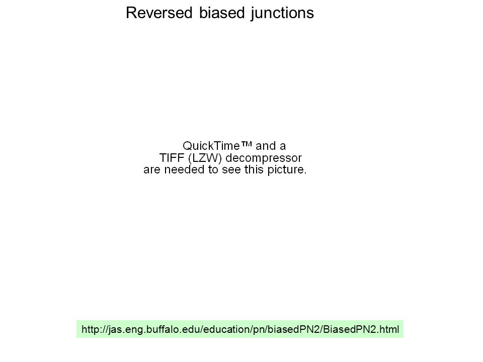 Reversed biased junctions http://jas.eng.buffalo.edu/education/pn/biasedPN2/BiasedPN2.html