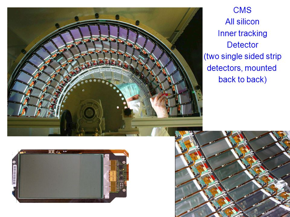 CMS All silicon Inner tracking Detector (two single sided strip detectors, mounted back to back)