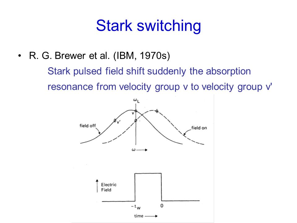 Stark switching R. G. Brewer et al.