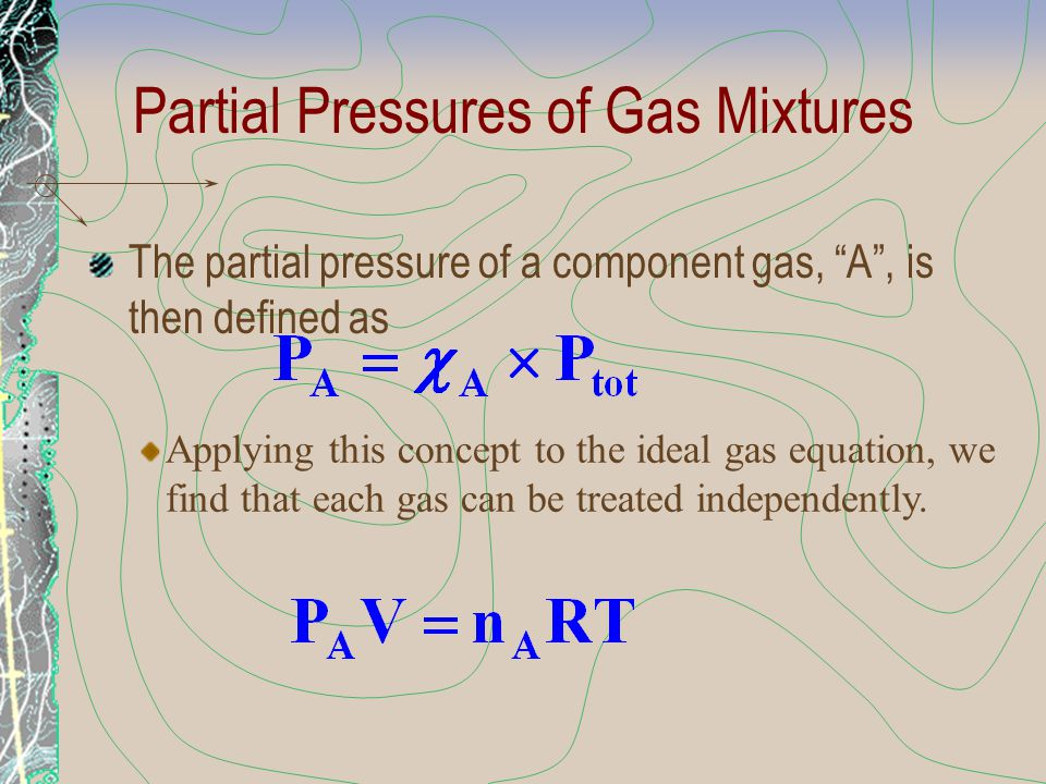 A Problem to Consider The real pressure exerted by 1.00 mol of SO 2 at STP is slightly less than the ideal pressure.