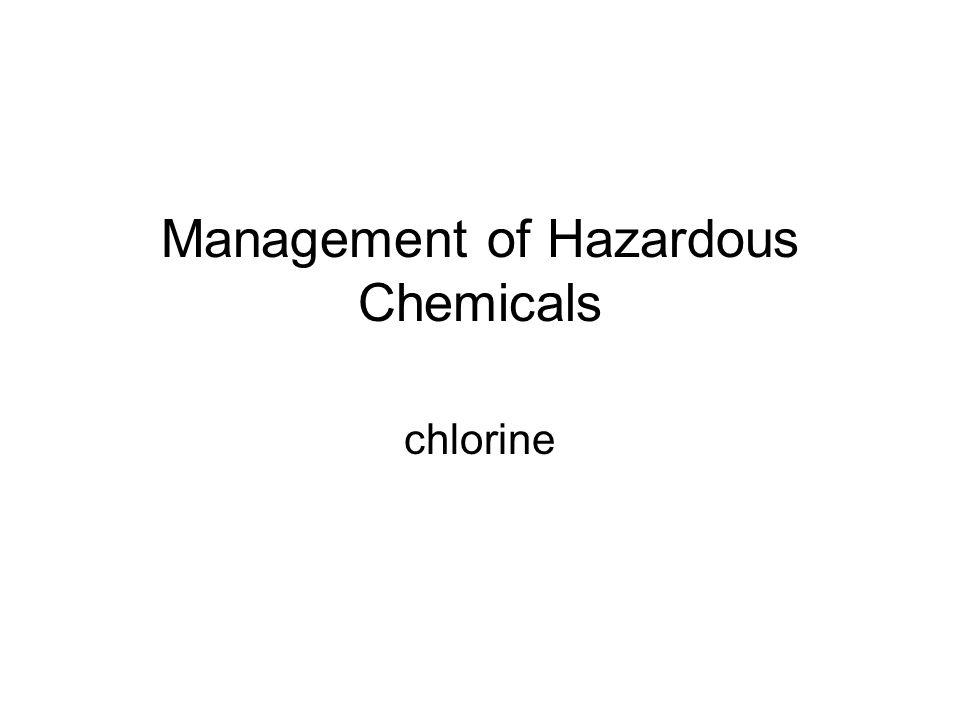 Management of Hazardous Chemicals chlorine