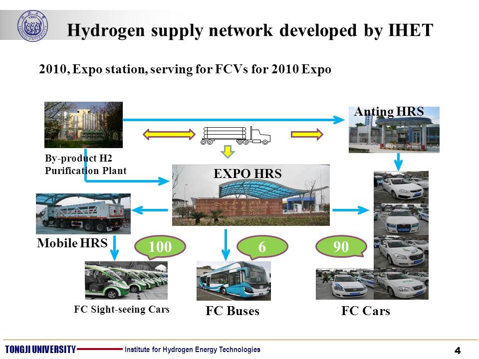 4 TONGJI UNIVERSITY Institute for Hydrogen Energy Technologies Hydrogen supply network developed by IHET 2010, Expo station, serving for FCVs for 2010