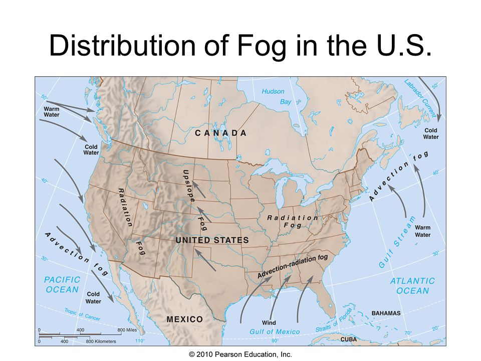 Distribution of Fog in the U.S.