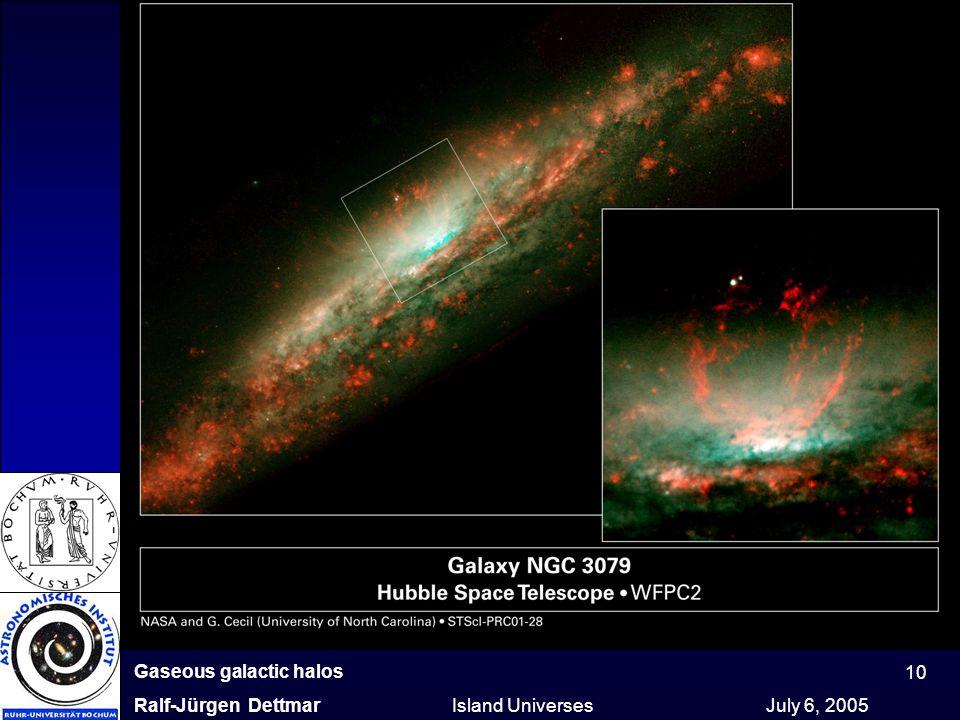 Gaseous galactic halos Ralf-Jürgen Dettmar Island Universes July 6, 2005 10